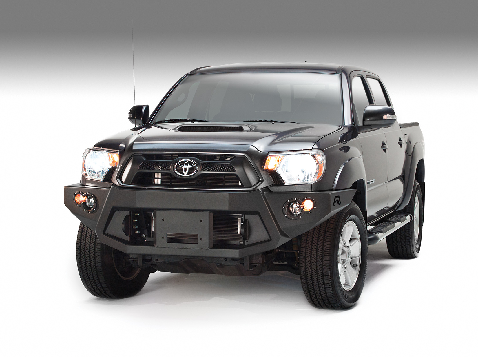 Fabfour Winch Mount Front Bumper For 2012 2015 Tacoma