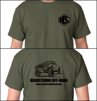 HeadStrong Off-Road T-Shirts with HS Tacoma Truck Apparel swag